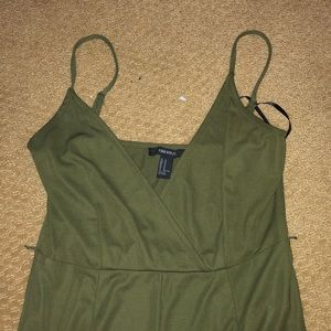 Olive green jump suit